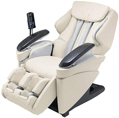Panasonic EP-MA70CX Real Ultra Pro Heated Massage Chair, Ivory, 1066 sq.in. Air Massage Coverage, 108 Massage Combinations Including 3D Massage, 33 Total Airbags, Infrared Heated Massage Rollers
