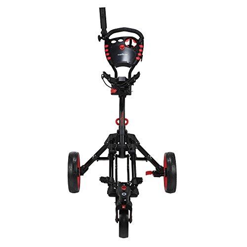 Caddymatic Golf 360° SwivelEase 3 Wheel Folding Golf Cart Black/Red by Caddymatic (Image #2)