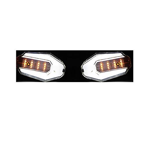 BaronHong 2 Pack Motocicleta LED Indicadores Luminosos de luz Diurna Lámpara de Funcionamiento 12V Impermeable: Amazon.es: Coche y moto