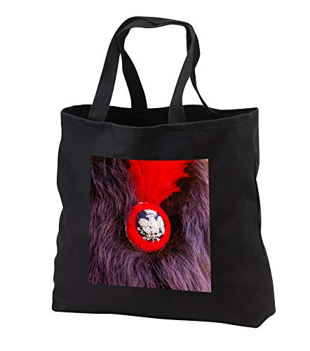 Alexis Photography - Objects Military - Image of a badge and red plume on a Napoleon soldier bear skin hat - Tote Bags - Black Tote Bag JUMBO 20w x 15h x 5d (tb_304805_3)