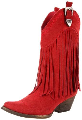 Very Volatile Women's Hillside Boot,Red,7.5 B US (Womens Cowboy Boots Purple)