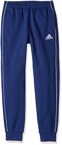adidas Core18 Sweat Pants, Dark Blue/White, Large