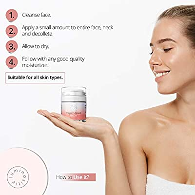 Dragons Blood Serum - Sculpting Gel, Face Tightening and Lifting Cream to Repair, Soothe, Regenerate and Protect - Boosts Collagen Production - 1oz - Made in the USA