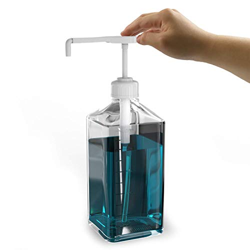 - Mouthwash Dispenser Glass Decanter, 37-Ounce Mouth Wash Pump Bottle Caddy, Perfect Bathroom Accessory for Oral Care