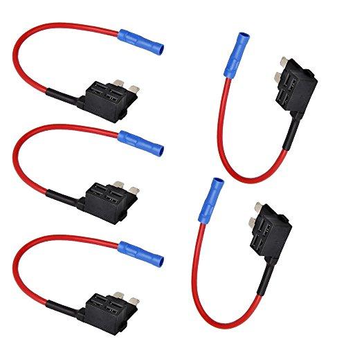 EtoparsTM 5 X 12V 24V Standard Add A Circuit Fuse Tap Piggy Back Blade Holder Plug Socket Car Vehicle