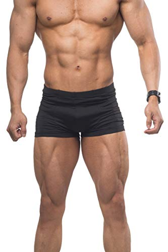 Musclealive Men Bodybuilding Contest Physique Competition Posing Trunk Gym Nylon