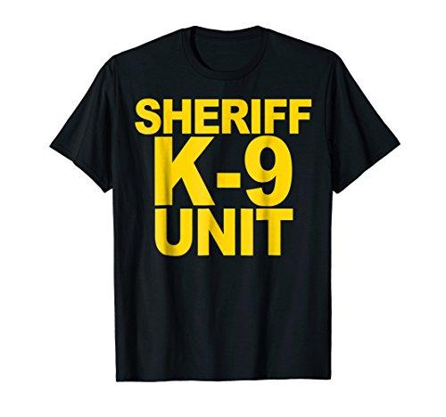 Sheriff K-9 Unit Shirt Front Print Law Enforcement Clothing ()