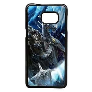Juegos ilustraciones Warcraft 82279 Samsung Galaxy S6 Edge + Plus caja del teléfono celular funda Negro caja del teléfono celular Funda Cubierta EEECBCAAJ71975