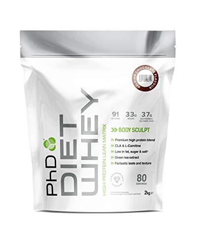 PhD Nutrition Diet Whey Protein Powder, Belgian Chocolate, 2 kg