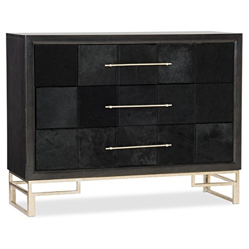 Hooker Furniture 3 Drawer Hair on Hide Accent Chest in Black