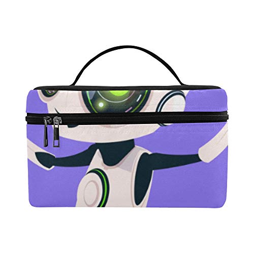 - Technological Sense Robot Pattern Lunch Box Tote Bag Lunch Holder Insulated Lunch Cooler Bag For Women/men/picnic/boating/beach/fishing/school/work