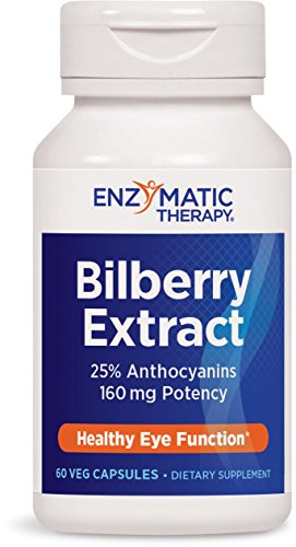 Enzymatic Therapy Bilberry Extract 25% Anthocyanins 160 mg Potency, 60 Vcaps ()