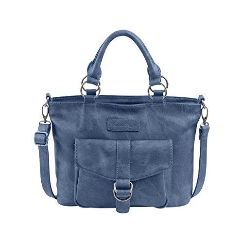 Fritzi aus Preußen - Bolso al hombro de sintético para mujer azul azul talla única