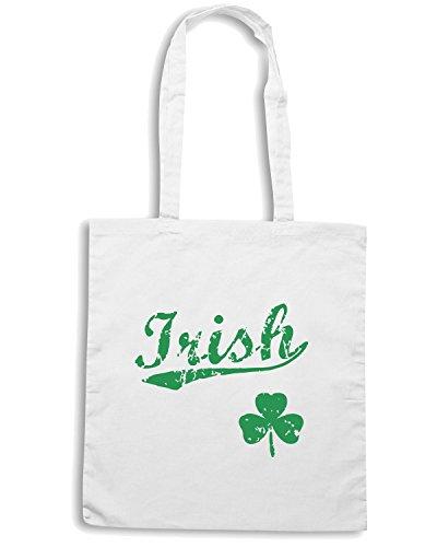 T-Shirtshock - Bolsa para la compra TIR0119 irishbbstyle2 mens vneck tshirt Blanco