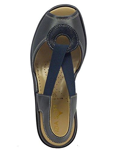 Cinzia Soft Iplisa Perlato Blu - Sandalias de vestir de Piel para mujer turquesa