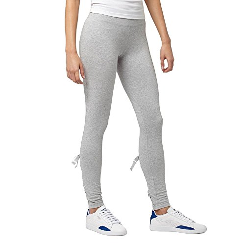 Puma Womens Lace-Up Bow Leggings Light Grey Heather