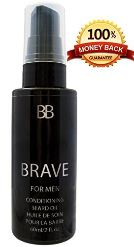 BRAVE Scottish Beard Oil - A Premium Beard Oil Recipe that Smoothes, Nourishes and Thickens Beard with a Light Fresh Long Lasting Kiss-Worthy Scent.100% Natural Oils, Vegan &Cruelty Free - Made in UK!