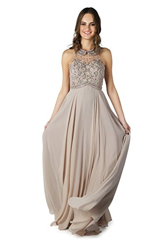 Beige lange Damen ohne 1022820 Stil Schal Kleid Spirit beige Dynasty Charisse wnvTIqRI