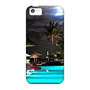 New Style Tpu 5c Protective Case Cover/ Iphone Case - Summer Moonlight