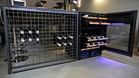 Botellero de vino Datron, apto para 46 botellas, frigorífico refrigerado, línea Luxury, apto tanto para empotrar como para instalación libre