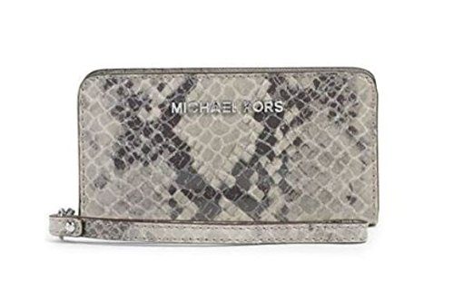 1fe8effe8180 MICHAEL Michael Kors Jet Set Travel Slim Tech Phone Wristlet (Pearl Grey) -  Buy Online in UAE. | Apparel Products in the UAE - See Prices, Reviews and  Free ...