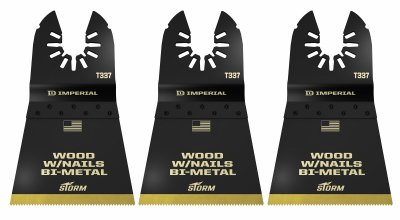 Imperial Blades IBOAT337-3 Oscillating Tool Blade, Wood With Nails, Bi-Metal, 2.5-In., 3-Pk. - Quantity 25
