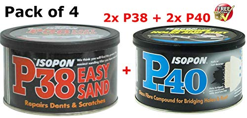 U-POL Davids Isopon P38 & P40 Body Filler Compound Car Body Repair Kit: