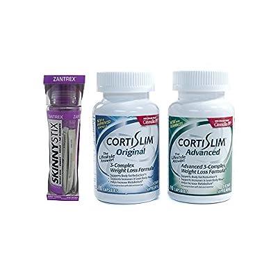 Basic Research Zantrex Skinny Stix Grape 25 ea and Cortislim Advanced Stack