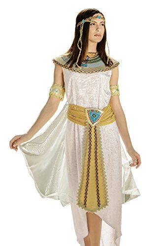 Adult Women Cleopatra Nefertiti Nile Queen Costume Cosplay & Role Play Dress Up (Medium/Large, White, Gold, Blue, Red, (Egypt Halloween Costumes)