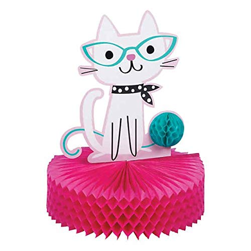 (Cat Birthday Party Supplies Decorations, Cat Party Table Centerpiece For Baby Shower or Birthday For Kitty Lovers)