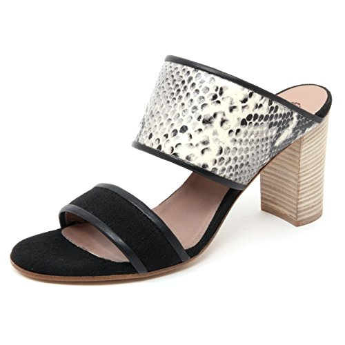Woman MALIPARMI Nero Pitone Sandal Shoe B4946 Stampa Donna Sandalo Sabot Nero 4IzqISr