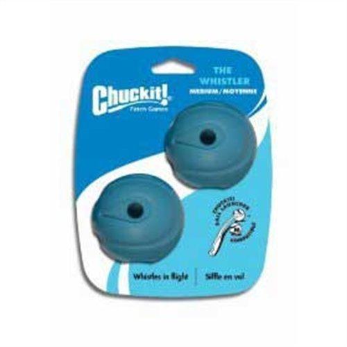 Chuckit! Medium The Whistler Ball 2.5-Inch, 2-Pack, My Pet Supplies