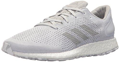 adidas Men's Pureboost DPR Running Shoe, White/White/Light Solid Grey, 10 Medium (Solid White Mens Shoe)
