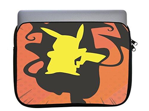 Neoprene Zippered Laptop Sleeve Bag 11x14 inch for MacBook or Other Laptops (Pockemon Evolution)