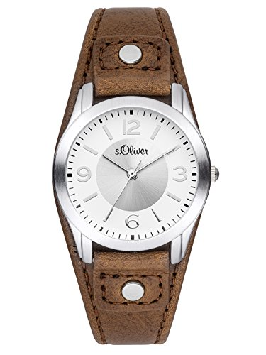 S.Oliver Women's Analogue Quartz Watch with Leather Strap – SO-2946-LQ