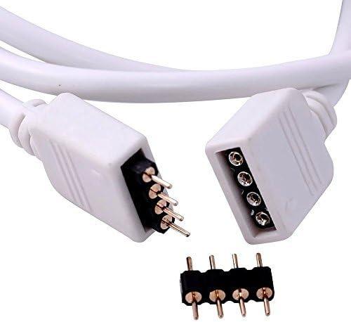 VIPMOON 2 Pack 2 M 6.6ft Extension C/âble Connect Femelle Plug /à SMD 5050 RVB LED Lumi/ère Strip avec Libre 4pcs 4pin Connecteur