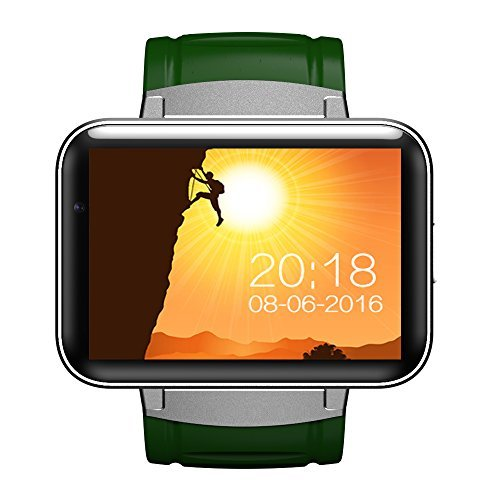 GoExw Smartwatch Fitness Smart Phone DM 98 3G Android 4.4 OS WIFI GPS Bluetooth 2.2 Inch Screen Black
