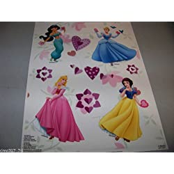 "Disney Princesses Valentine""s Day Color Clings Window Mirror Art Stickers Decorations"