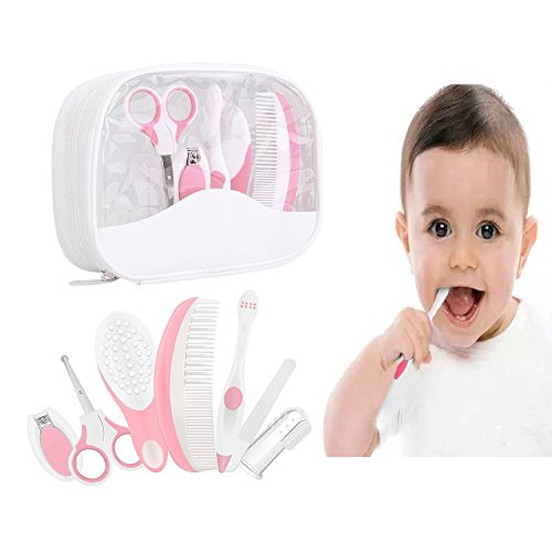 Essential Baby Healthcare and Grooming Kit Set - Nail Care Set with Nail Clipper, Brush, File, Scissors, Comb, Toothbrush &...