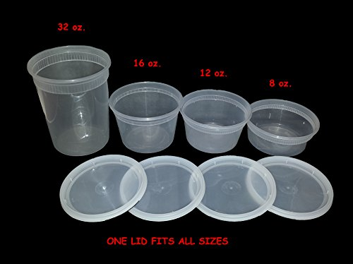 Food, Storage, Containers, Deli, Takeout, with Lids, Combo,