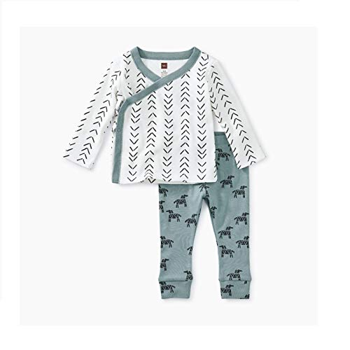 - Tea Collection Wrap Top Baby Outfit, 3-6 Months, Baby Geo - Paperwhite
