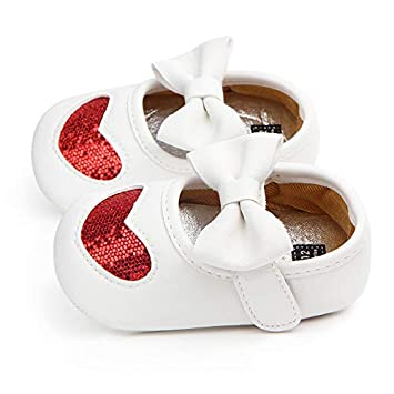 6831430bb49f ... LooBooShop Newborn Infant Toddler Crib Shoes Cute Bow Bebes Casual  Loafers Shoes for Girls Mary Jane Flats Shoes Kid Princess Shoe Footwear    Baby