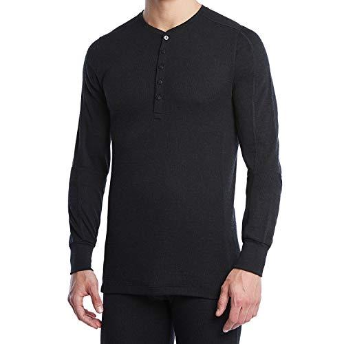 de Camiseta Tech larga x 2 para hombre color manga negro Henley AqRt5xS
