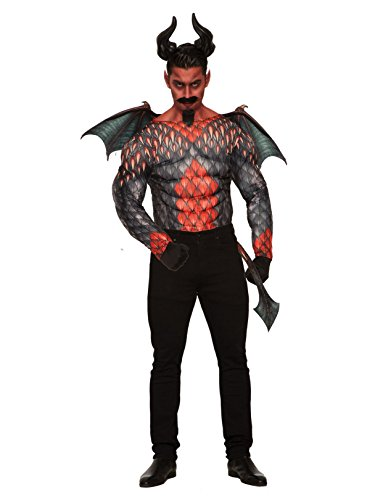 Forum Novelties Men's Demons & Devil-Muscle Shirt Party Supplies, Standard, Red/Black