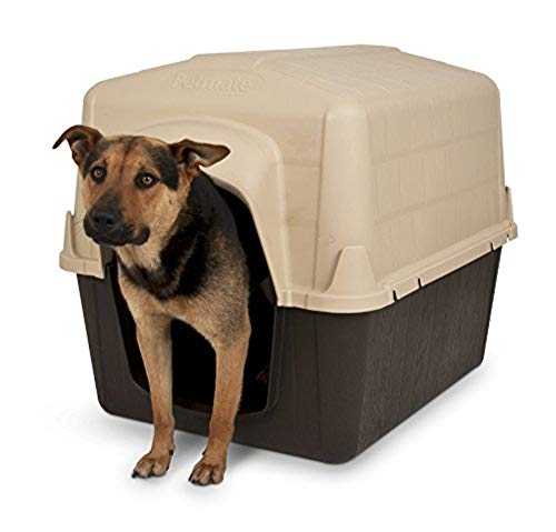 - Aspen Pet Petbarn Dog House Snow and Rain Diverting Roof Raised Floor No-Tool Assembly 4 Sizes Available