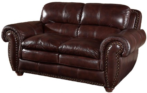 (Aspen Leather Loveseat by Leather Italia USA)