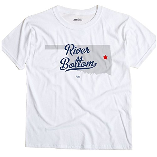 River Bottom Oklahoma OK MAP GreatCitees Unisex Souvenir T Shirt