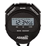 MARATHON ST083009 Adanac 4000 Digital Stopwatch Timer with Extra Large Display and Buttons, Water Resistant, Two Year Warranty - Black