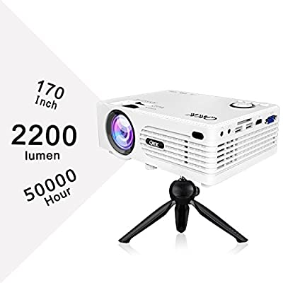 QKK 2019 Upgrade Video Projector Full HD 1080P Supported