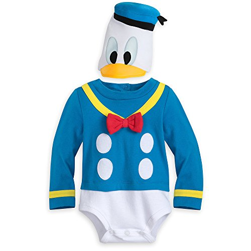 Disney Store Donald Duck Halloween Costume Bodysuit Hat Size 18 - 24 Months -